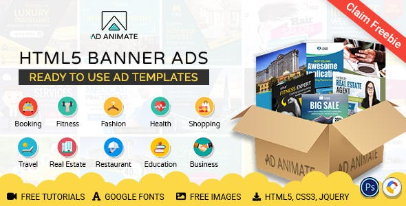 Animated Banner Ads Collection (BDL01) - Value Saver