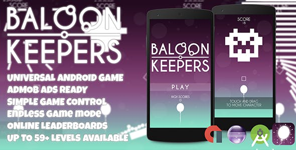 Balloon Keepers + Admob (Android Studio + Eclipse) Easy Reskin