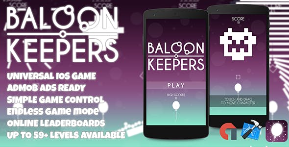 Balloon Keepers + Admob ( Xcode 8 + 7 Project )