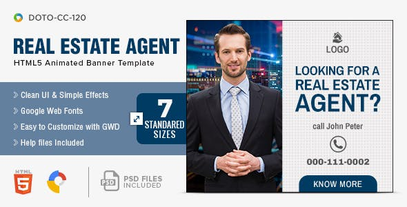 Real Estate HTML5 Banners - 7 Sizes
