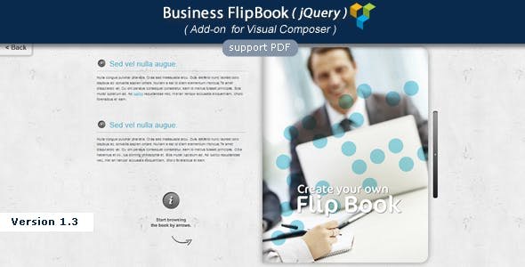 Visual Composer Add-on - Business jQuery FlipBook