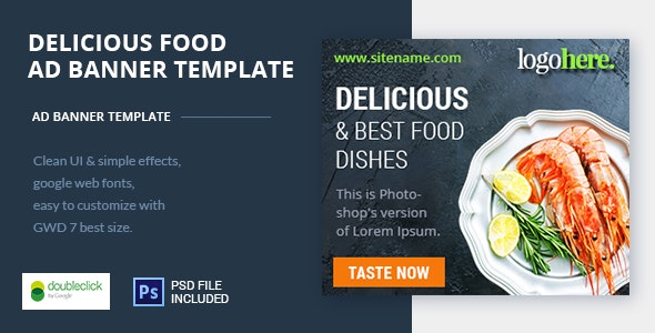 Food and Restaurant HTML Ad Banner 05 - CodeCanyon Item for Sale