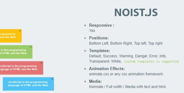 Noist.js - Flat Notification Messages