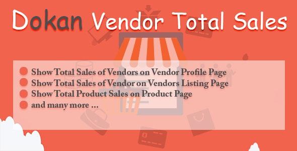 Dokan Vendor Total Sales - CodeCanyon Item for Sale