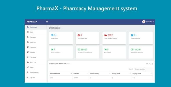 PharmaX - Pharmacy management System C# ASP.NET MVC - CodeCanyon Item for Sale