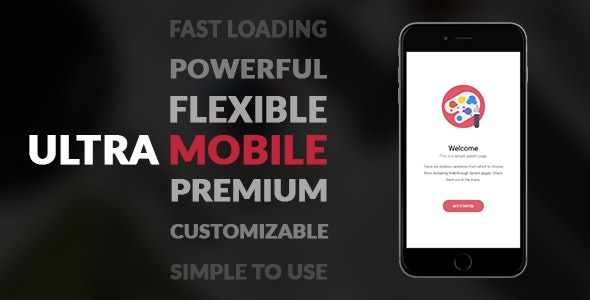 UltraMobile | PhoneGap & Cordova Mobile App - CodeCanyon Item for Sale