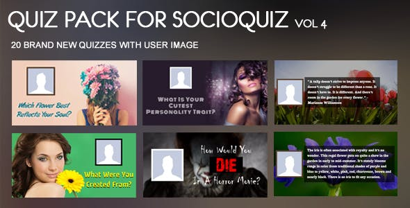 20 Quiz Pack for SocioQuiz Vol 4