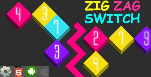 Zig Zag Switch - HTML5 Game + Mobile Version! (Construct-2 CAPX)