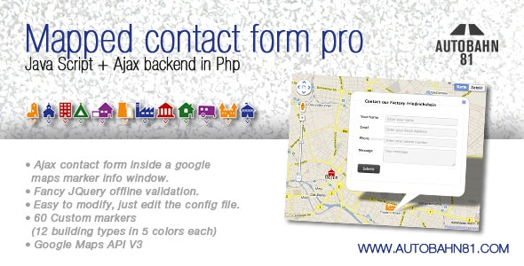 Mapped contact form pro - CodeCanyon Item for Sale