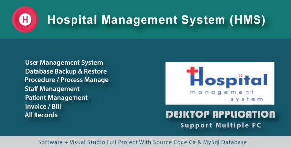 Simple Hospital Management System | Patient Manage | Procedure & Invoice with source code
