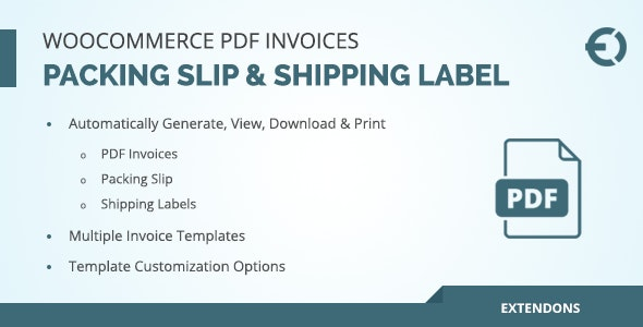 WooCommerce PDF Invoice, Packing Slip & Shipping Label - CodeCanyon Item for Sale
