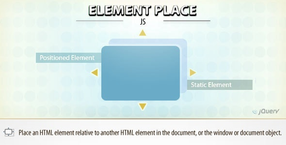 Element Place (jQuery) - CodeCanyon Item for Sale