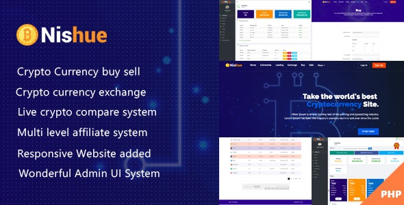 Nishue - CryptoCurrency Buy Sell Exchange and Lending with MLM System | Crypto Investment Platform - CodeCanyon Item for Sale