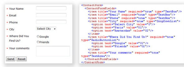 Dynamic Email Form from Xml File - CodeCanyon Item for Sale