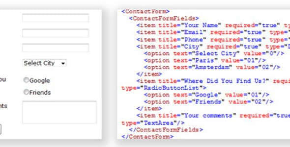 Dynamic Email Form from Xml File
