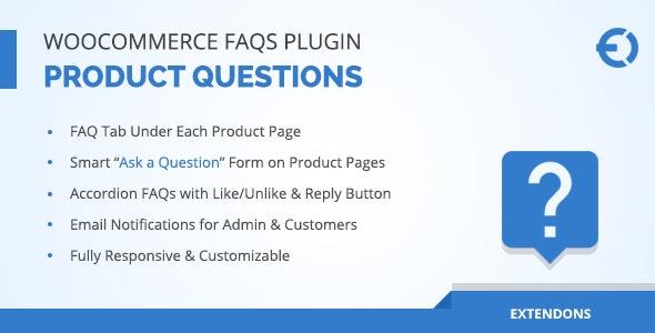 WooCommerce FAQ Plugin - Product FAQ Tab + Store FAQ Page - CodeCanyon Item for Sale