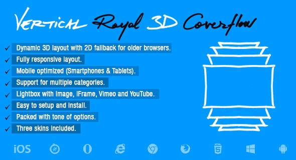 Vertical Royal 3D Coverflow - CodeCanyon Item for Sale