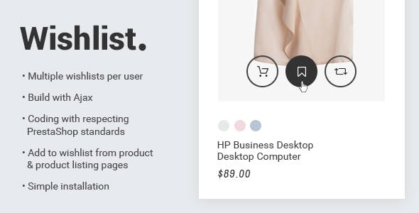 Prestashop 1.7 Wishlist