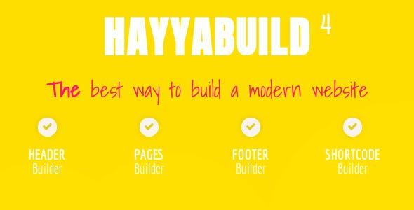 HayyaBuild - WordPress Builder - CodeCanyon Item for Sale