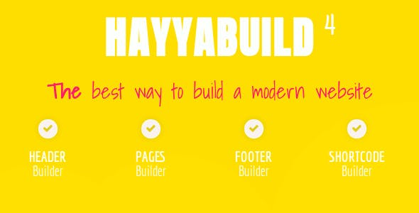 HayyaBuild - WordPress Builder