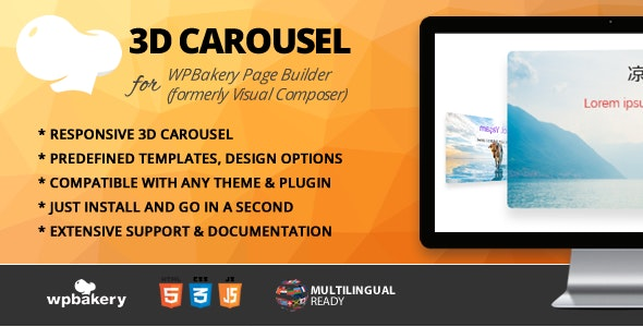 3D Carousel Addon for WPBakery Page Builder (formerly Visual Composer) - CodeCanyon Item for Sale