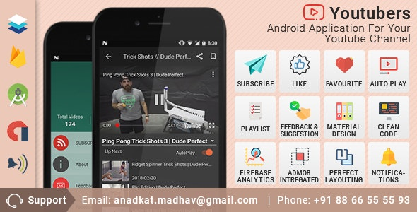 Youtubers Application For Android. (Android Application for YouTube Channel) - CodeCanyon Item for Sale