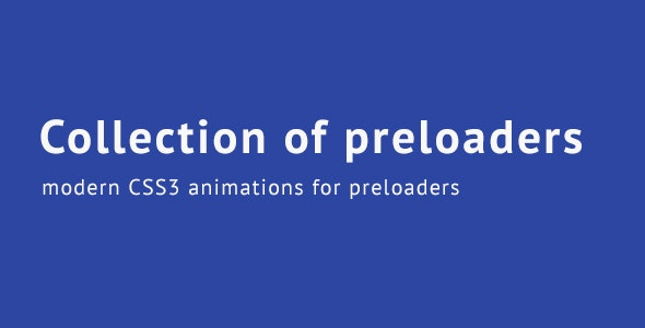 Collection of Preloaders - CodeCanyon Item for Sale