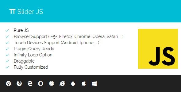 PI Slider JS - Responsive Slider Pure JS - CodeCanyon Item for Sale