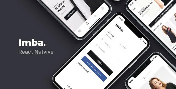 Imba - React Native E-Commerce App Template