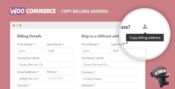 WooCommerce Copy Billing Address - CodeCanyon Item for Sale