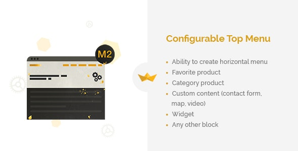 Configurable Top Menu for Magento 2 - CodeCanyon Item for Sale