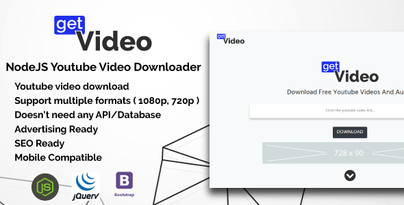 GetVideo - NodeJS Youtube Video Downloader - CodeCanyon Item for Sale