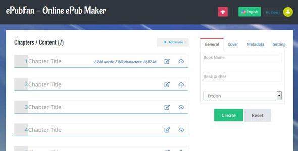 ePubFan - Online ePub Maker, Composer & Manager - Lite