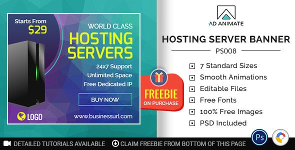 Professional Services | Hosting Server Banner (PS008)
