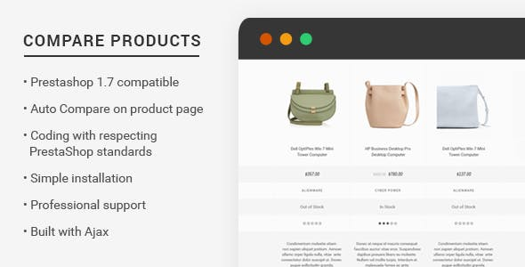 Prestashop 1.7 Compare Products