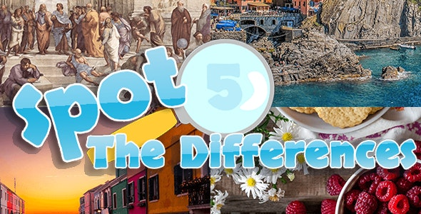 Spots 5 Differences - Find The Difference Game - CodeCanyon Item for Sale