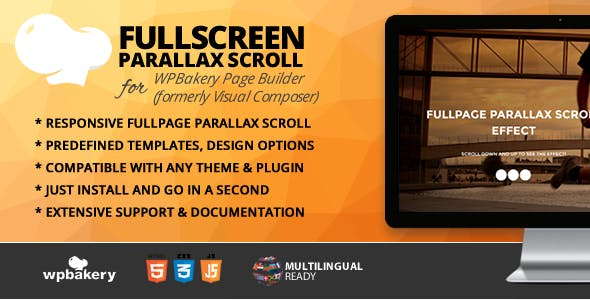 Fullpage Parallax Scroll Addon for WPBakery Page Builder (formerly Visual Composer)