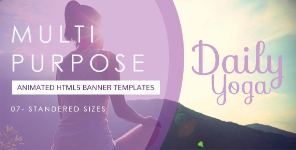 Yoga Banner Ad Or Meditation Banner By Templateforester Codecanyon