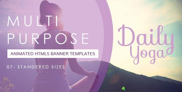Yoga Banner Ad or Meditation Banner