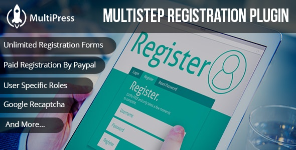 MultiPress Pro - WP Multi Step Registration Form Plugin - CodeCanyon Item for Sale