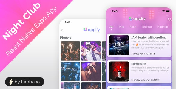 Night Club App - React Native Expo App - CodeCanyon Item for Sale