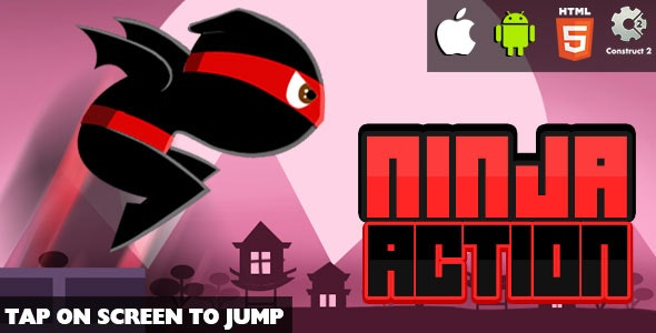 Ninja Action - HTML5 Game (CAPX) - CodeCanyon Item for Sale
