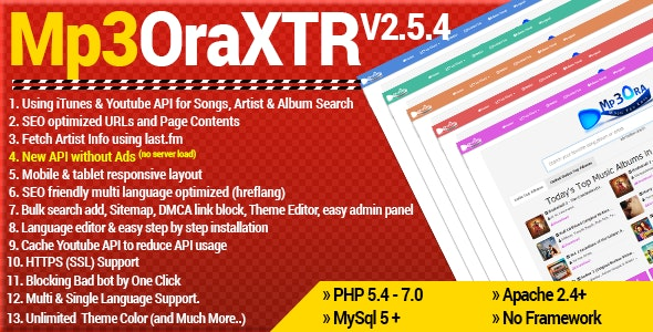 Mp3OraXtr - PHP Mp3 Search Engine - CodeCanyon Item for Sale