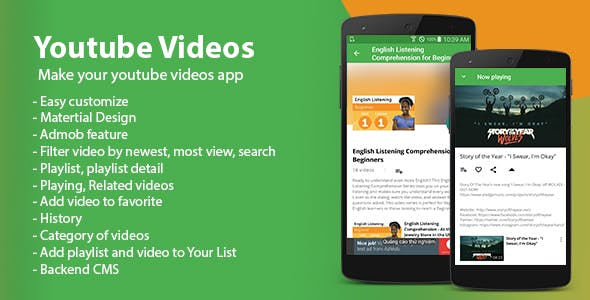Make A YouTube Video Playlist App With Mobile App Templates