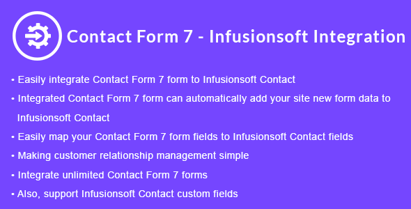 Contact Form 7 - Infusionsoft Integration | Contact Form 7 - Keap CRM Integration