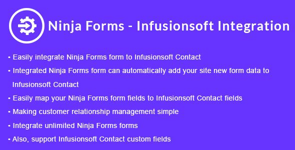Ninja Forms - Infusionsoft Integration | Ninja Forms - Keap CRM Integration - CodeCanyon Item for Sale