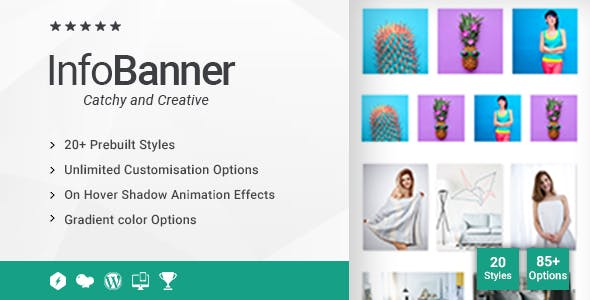 Info Banner |  Image Hover Effects Addon for WPBakery Page Builder (formerly Visual Composer)