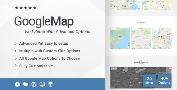 Creative Google Maps Addon for WPBakery Page Builder (formerly Visual Composer) - CodeCanyon Item for Sale