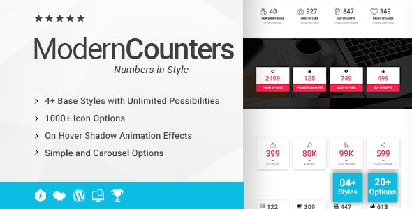 Modern Counters Addon for WPBakery Page Builder (formerly Visual Composer)