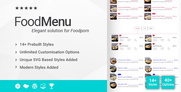 Ultimate Food Menu Addon for WPBakery Page Builder (formerly Visual Composer) - CodeCanyon Item for Sale